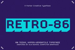 RETRO-86 - Cool Pixel Font Product Image 1