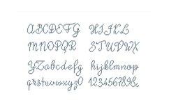 Alphabet cross stitch pattern, 14 sts tall font - Alph111 Product Image 3