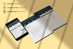 Professional Resume Template Bundle, Cover Letter, Reference Product Image 8