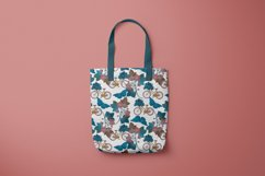 Pattern with bicycle and flowers Product Image 2