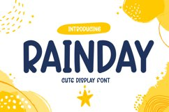 Rainday - Cute Display Font Product Image 1