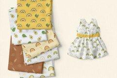 Avocado and Rainbow Seamless Patterns, Nursery Digital Paper Product Image 4