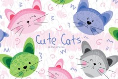 Cute Cats and Patterns Product Image 1