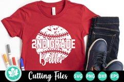 Back to School SVG   2nd Grade SVG   Baseball SVG Product Image 1