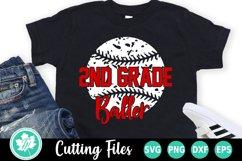 Back to School SVG   2nd Grade SVG   Baseball SVG Product Image 2