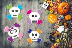 Cute Skull Boy/Girl Stickers Product Image 3