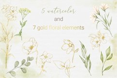 Watercolor and GOLD nature Product Image 3