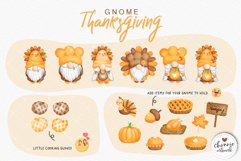 Watercolor Thanksgiving Gnome Clipart, Turkey Gnome Clipart Product Image 4
