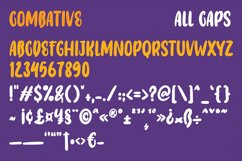 Combative - Display Font Product Image 3