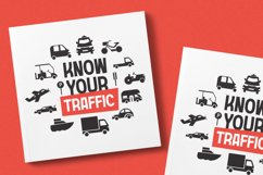 Transportation Font Product Image 2