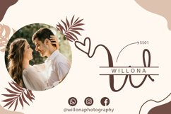 Couple Monogram Font & Wedding Ornament Product Image 2
