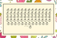 Apple Fruit Font Product Image 3