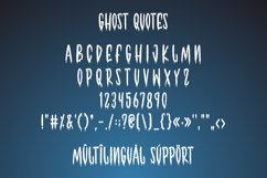 Ghost Quotes - Halloween Font Product Image 3