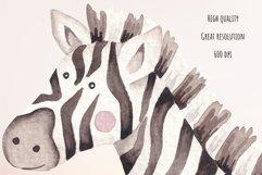 "Watercolor Clipart ""Safari Animals"" Product Image 4"