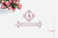 Tulip Monogram split letter font Product Image 3
