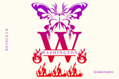 Butterfly Fire Monogram Product Image 4