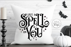 I Put A Spell On You SVG | Halloween Witch Word Art Design Product Image 3