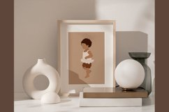 Abstract curly hair baby clipart Product Image 3