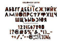 Halloween color font Product Image 3