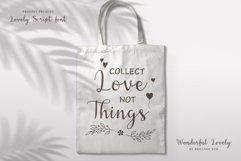 Wonderful Lovely - a Romantic Script Font Product Image 3