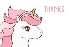 Cute Unicorn Face, Cartoon Pony Muzzle Product Image 2