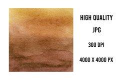Brown Watercolor digital paper Product Image 2