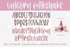 Unicorn Milkshake-A cute handwritten font Product Image 3