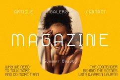 Zamaica - sans serif monoline font Product Image 2