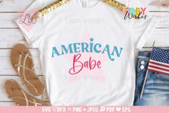 4th July American Babe Patriotic Svg Product Image 2
