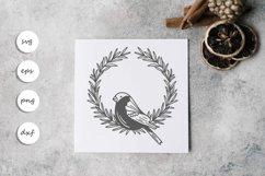 Bird wreath SVG Product Image 1
