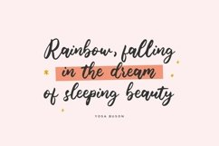 Blondie Rainbow Modern Calligraphy Font Product Image 3