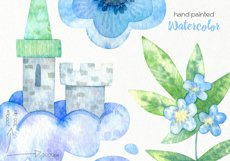 Watercolor Unicorn Clipart - PNG Files Product Image 5