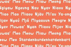 Calli Cat - Layered Display Font Product Image 3