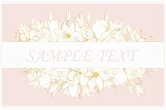 Vector banner with gold flowers Product Image 4