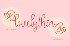lovelythin Super Thin Font Product Image 3