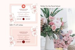 Rose Certificate of Completion Editable Canva Template. Product Image 3