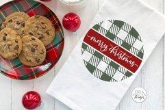 Merry Christmas Buffalo Plaid Round SVG | Winter Design Product Image 2