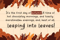 Orange Leafy - Autumn Display Font Product Image 3
