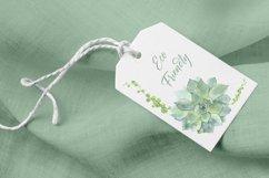 Succulent clipart / Watercolor succulent wreath / Floral png Product Image 6
