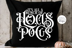 It's All A Bunch Of Hocus Pocus SVG | Halloween Word Art Product Image 3