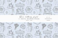 Blue Wedding Digital Paper Product Image 4