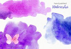 Watercolor Purple Butterflies - PNG Files Product Image 4
