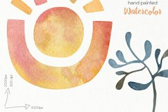 Watercolor Boho Clipart - PNG Files Product Image 6