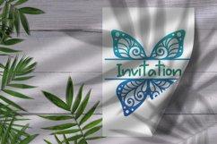 60 Butterfly SVG cut files - simple & split monogram Product Image 3
