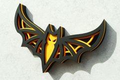 Halloween Bat 3D Layered SVG Cut File Product Image 3