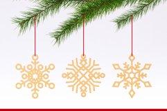Laser Cut Files Vol.1 - 50 Snowflake Ornaments Product Image 3