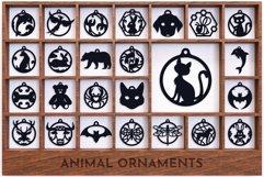 Laser Cut Files Vol.3 - 50 Animal Ornaments Bundle Product Image 3