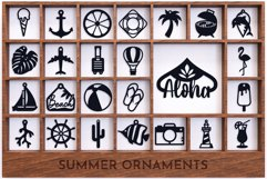 Laser Cut Files Vol.4 - 50 Summer Ornaments Bundle Product Image 3