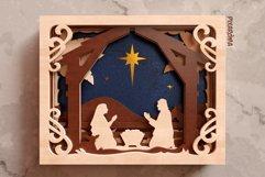Nativity Scene 3D Layered SVG Cut File Product Image 3