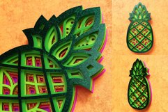 Pineapple 3D Layered SVG Cut File Product Image 3